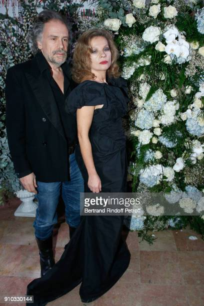 Simon Liberati and his wife Eva Ionesco attend the 16th Sidaction as part of Paris Fashion Week on January 25 2018 in Paris France
