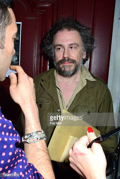Simon Liberati attends 'Les Racines De La Ville' Aramy Machry' s Photo Exhibition Preview At 'Le Plac Art' Gallery on April 17 2013 in Paris France