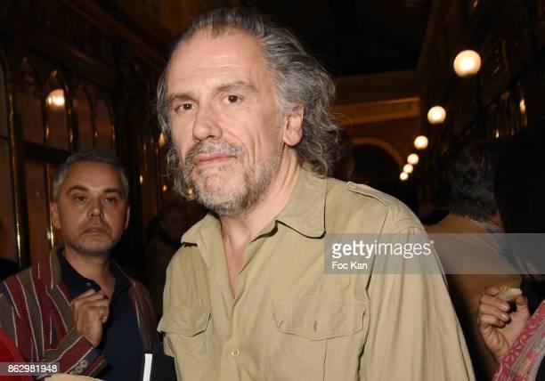 Simon Liberati attends the Simon Bocanegra And Philippe Morillon Exhibition At la Galerie Du Passage Pierre Passebon on October 18 2017 in Paris...