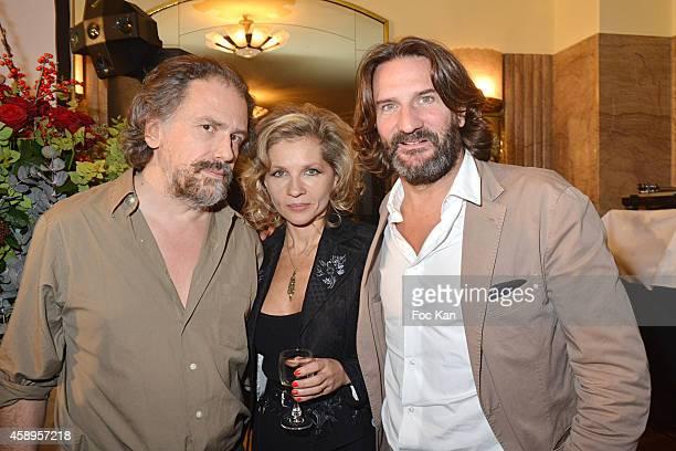 Simon Liberati Eva Ionesco and Frederic Beigbeder attend the 'Prix De Flore 2014' Literary Prize 20th Anniversary Ceremony Cocktail at the Cafe de...