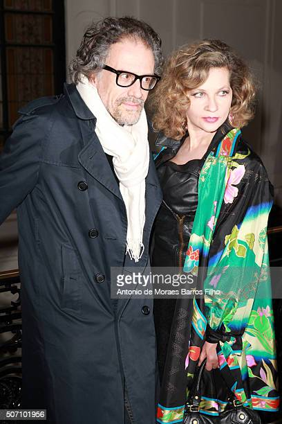 Simon Liberati Eva Ionesco attend the JeanPaul Gaultier Haute Couture Spring Summer 2016 show as part of Paris Fashion Week on January 27 2016 in...