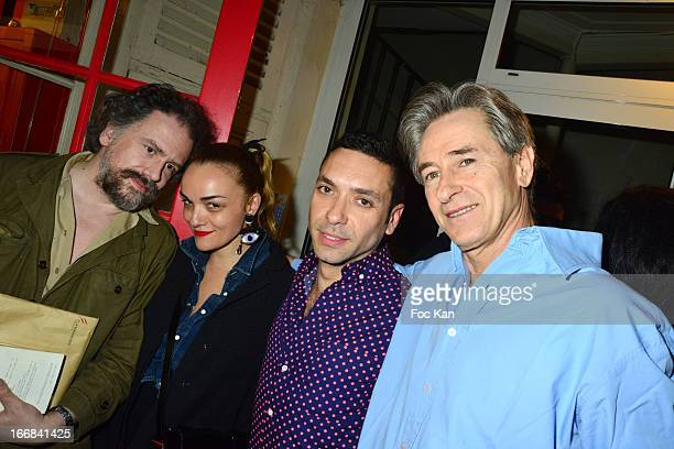 Simon Liberati Yazbukey Dani Morla and Aramy Machry attend 'Les Racines De La Ville' Aramy Machry' s Photo Exhibition Preview At 'Le Plac Art'...