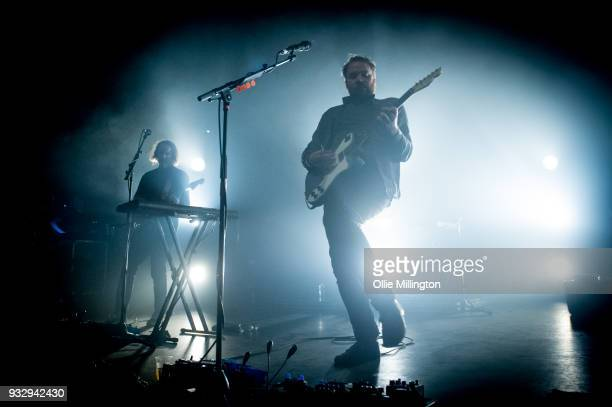 Simon Liddell and Grant Hutchison of Frightened Rabbit perform onstage at O2 Forum Kentish Town on March 16 2018 in London England