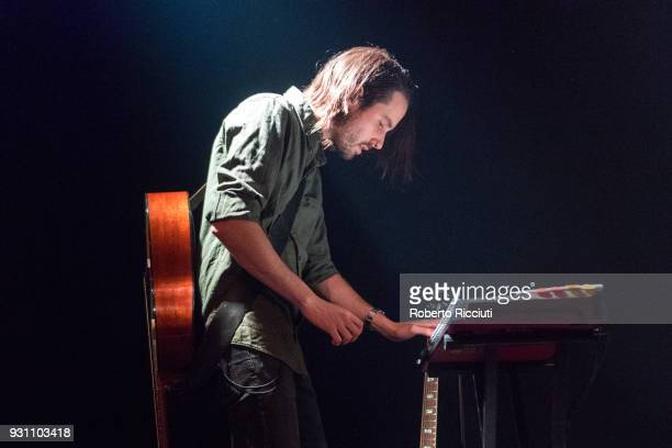 Simon Liddell of Frightened Rabbit performs on stage at The Liquid Room on March 12 2018 in Edinburgh Scotland