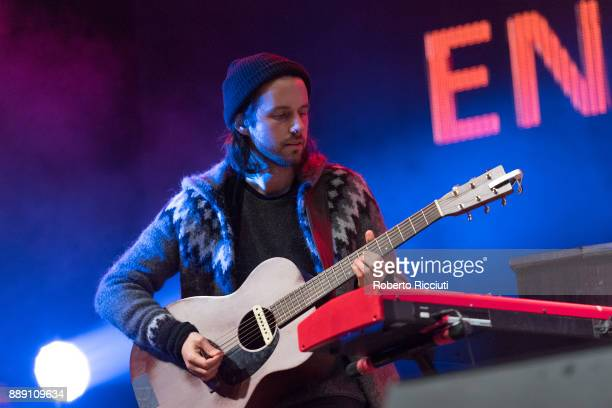 Simon Liddell of Frightened Rabbit performs on stage during Sleep In The Park a Mass Sleepout organised by Scottish social enterprise Social Bite to...