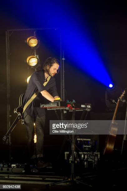Simon Liddell of Frightened Rabbit performs onstage at O2 Forum Kentish Town on March 16 2018 in London England