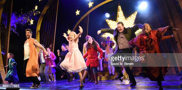 Simon Lipkin and Jamie Chpman at the curtain call for the world premiere press night performance of 'Nativity The Musical' at Eventim Apollo...