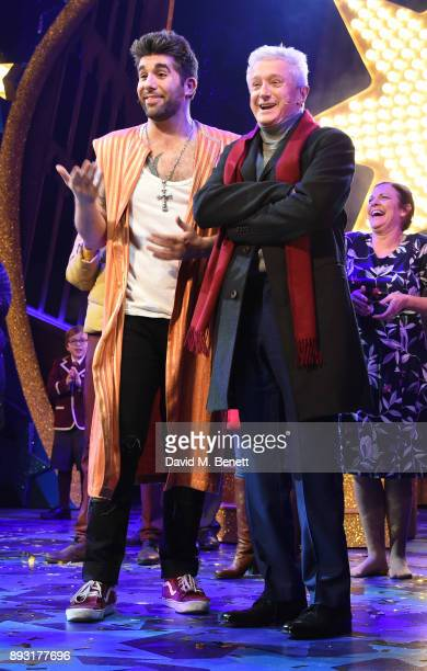 Simon Lipkin and Louis Walsh at the curtain call of World Premiere press night performance of 'Nativity The Musical' at Eventim Apollo Hammersmith on...