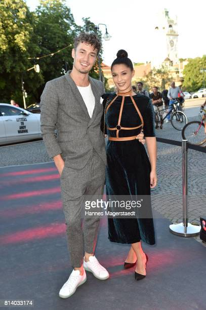 Simon Lohmeyer and Amina Heinemann attend the Cadillac House Opening at Deutsches Museum on July 13 2017 in Munich Germany