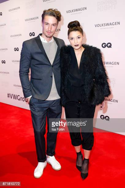 Simon Lohmeyer and his girlfriend Amina Heinemann attend the Volkswagen Dinner Night prior to the GQ Men of the Year Award 2017 on November 8 2017 in...