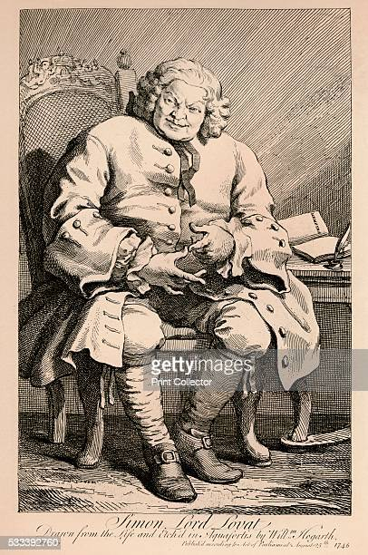 Simon Lord Lovat' from 'William Hogarth' by Austin Dobson 1904 Simon Fraser Lord Lovat Scottish Jacobite was the Chief of Clan Fraser He was executed...