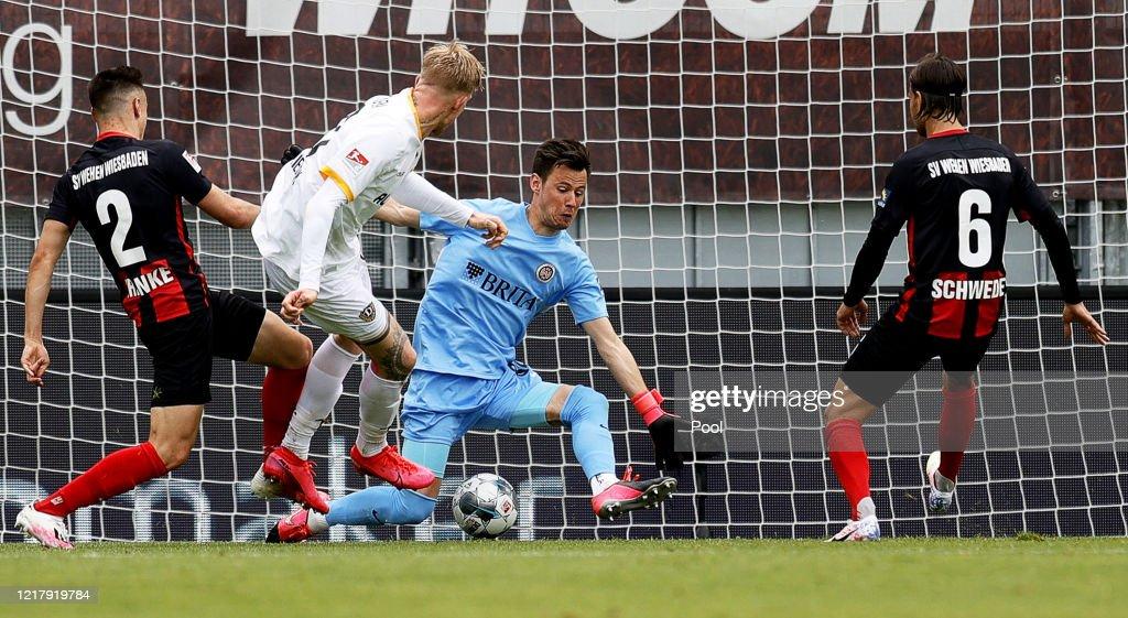 SV Wehen Wiesbaden v SG Dynamo Dresden - Second Bundesliga : News Photo