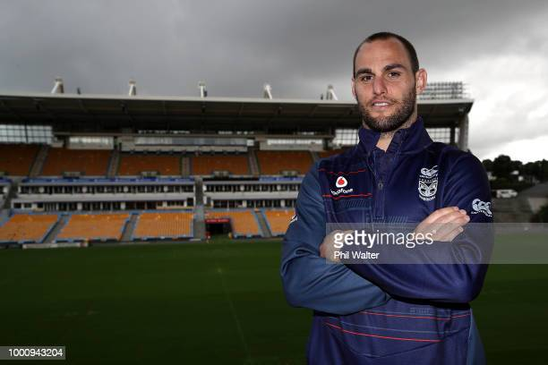 Warriors coach Stephen Kearney Simon Mannering and CEO Cameron George as Simon Mannering holds a press conference to announce his retirement at Mt...