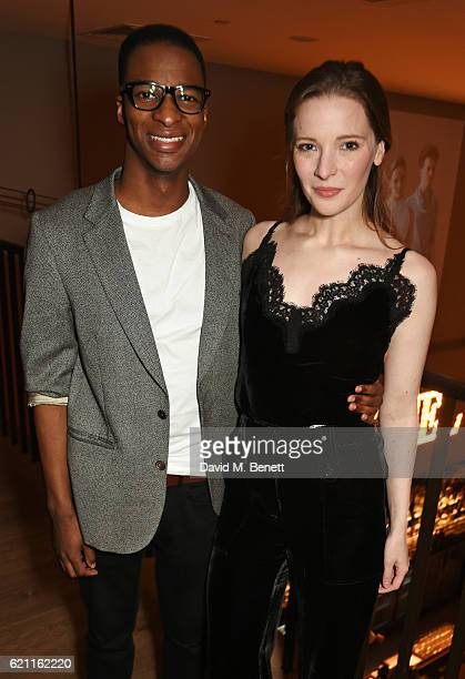 Simon Manyonda and Morfydd Clark attend the press night after party celebrating The Old Vic's production of King Lear at the Ham Yard Hotel on...