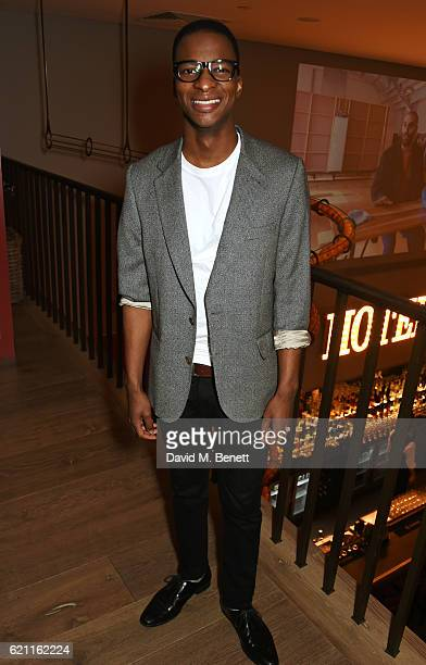 Simon Manyonda attends the press night after party celebrating The Old Vic's production of King Lear at the Ham Yard Hotel on November 4 2016 in...