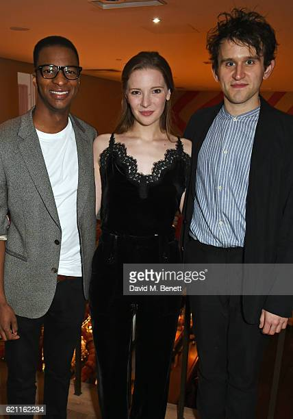 Simon Manyonda Morfydd Clark and Harry Melling attend the press night after party celebrating The Old Vic's production of King Lear at the Ham Yard...