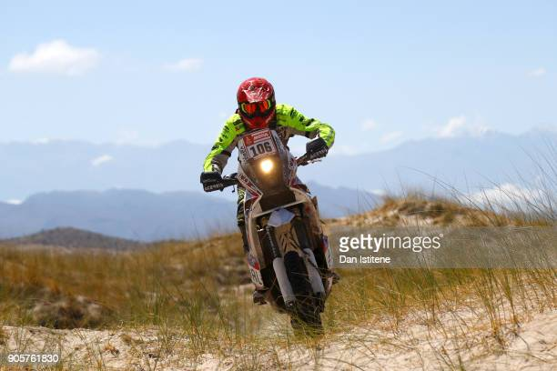 Simon Marcic of Slovenia and Marcic rides a 450 KTM bike in the Classe 22 Marathon during stage ten of the 2018 Dakar Rally between Salta and Belen...