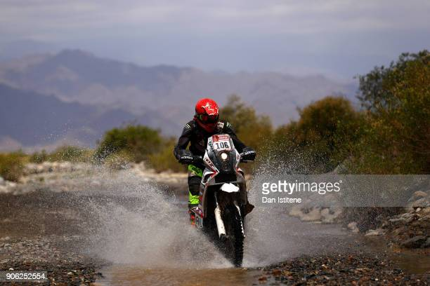 Simon Marcic of Slovenia and Marcic rides a 450 KTM bike in the Classe 22 Marathon during stage eleven of the 2018 Dakar Rally between Belen Fiambala...
