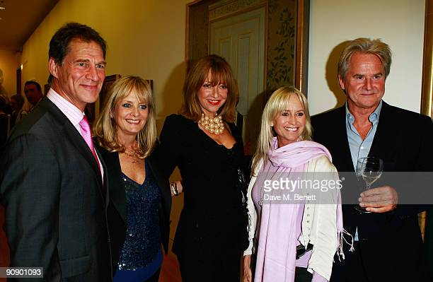Simon McCorquindale Twiggy Sharon Maughan Susan George and Trevor Eve at the Twiggy A Life In Photographs Party at the National Portrait Gallery on...