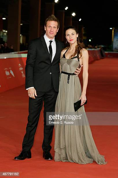 Simon Merrells and Ana Ularu attend the 'Index Zero' Red Carpet during the 9th Rome Film Festival on October 24 2014 in Rome Italy