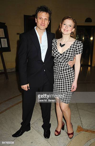 Simon Merrells and Bryony Afferson attend the press night of 'On The Waterfront' at One Whitehall Place on February 12 2009 in London England