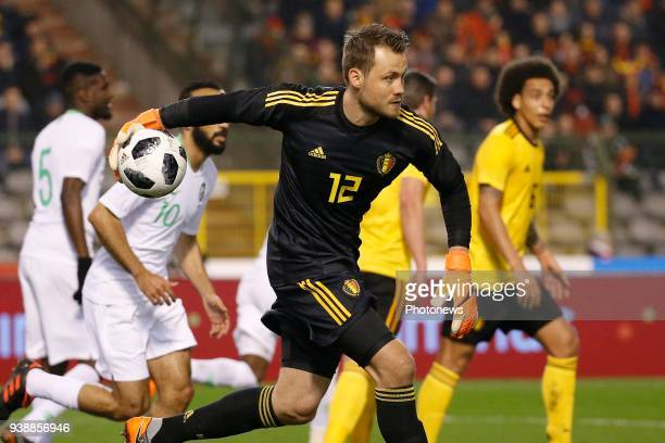 Simon Mignolet goalkeeper of Belgium during a FIFA international friendly match between Belgium and Saudi Arabia at the King Baudouin Stadium on...