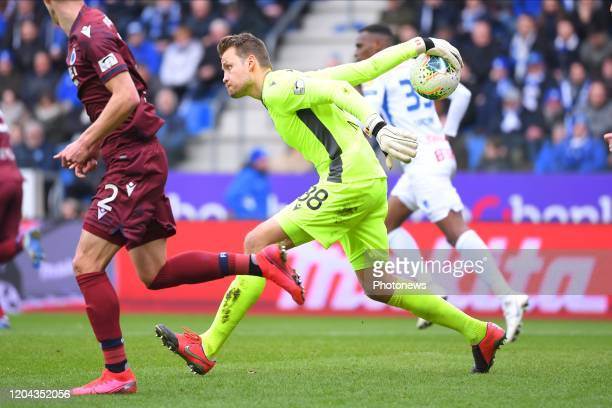 Simon Mignolet goalkeeper of Club Brugge during the Jupiler Pro League match between KRC Genk and Club Brugge KV on March 01 2020 in Genk Belgium...
