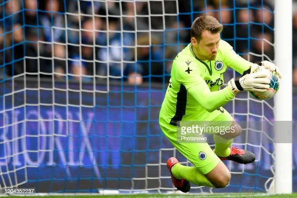 Simon Mignolet goalkeeper of Club Brugge during the Jupiler Pro League match between KRC Genk and Club Brugge KV on March 01 2020 in Genk Belgium