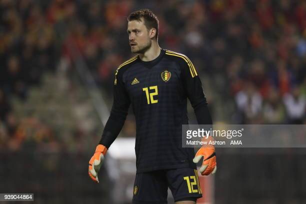 Simon Mignolet of Belgium during an International Friendly between Belgium and Saudi Arabia on March 27 2018 in Brussel Belgium