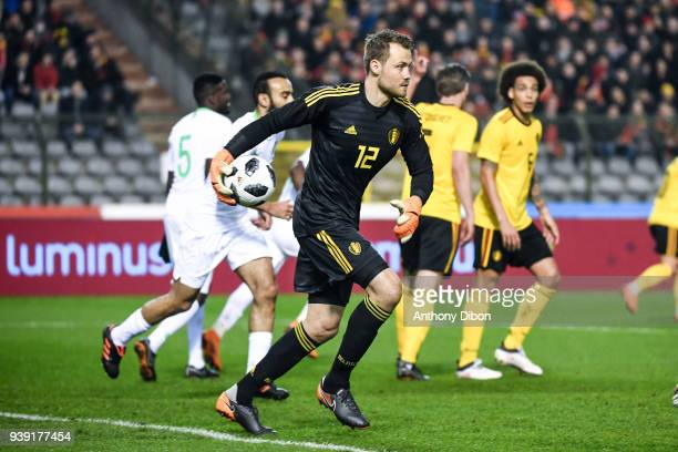 Simon Mignolet of Belgium during the International friendly match between Belgium and Saudi Arabia on March 27 2018 in Brussel Belgium