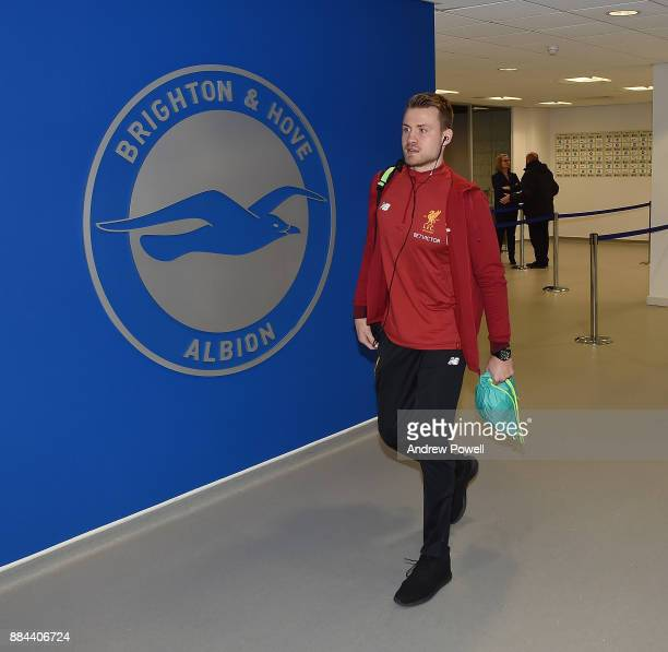 Simon Mignolet of Liverpool arrives before the Premier League match between Brighton and Hove Albion and Liverpool at Amex Stadium on December 2 2017...