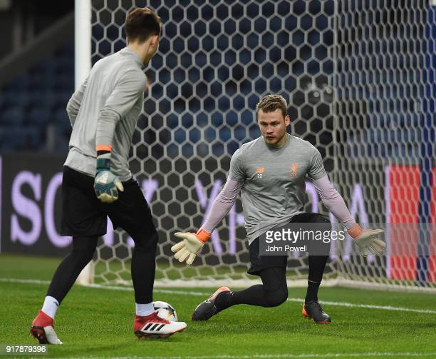 Simon Mignolet of Liverpool during a training session at Estadio do Dragao on February 13 2018 in Porto Portugal