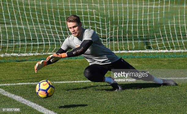 Simon Mignolet of Liverpool during a training session at Marbella Football Center on February 17 2018 in Marbella Spain