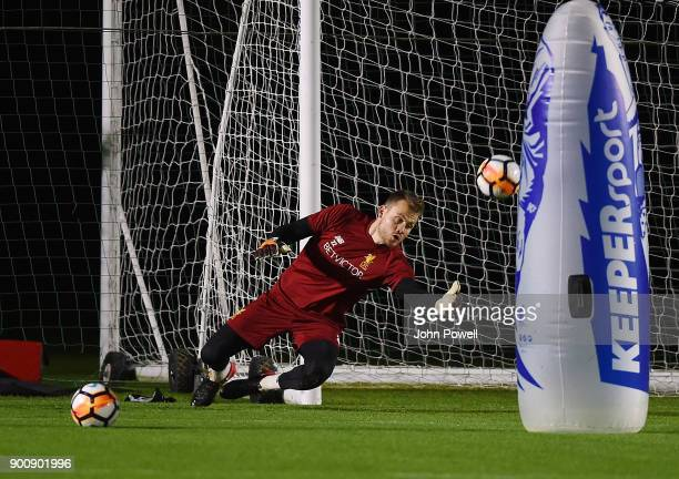 Simon Mignolet of Liverpool during a training session at Melwood Training Ground on January 3 2018 in Liverpool England