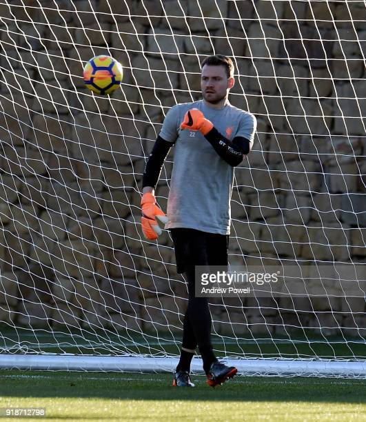 Simon Mignolet of Liverpool during a training session at the Marbella Football Center on February 15 2018 in Marbella Spain