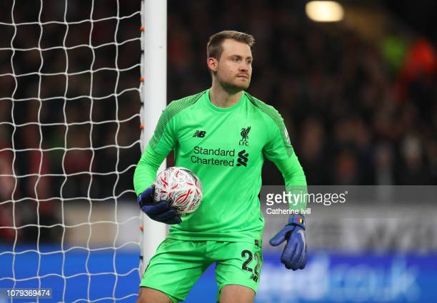 Simon Mignolet of Liverpool during the Emirates FA Cup Third Round match between Wolverhampton Wanderers and Liverpool at Molineux on January 7 2019...