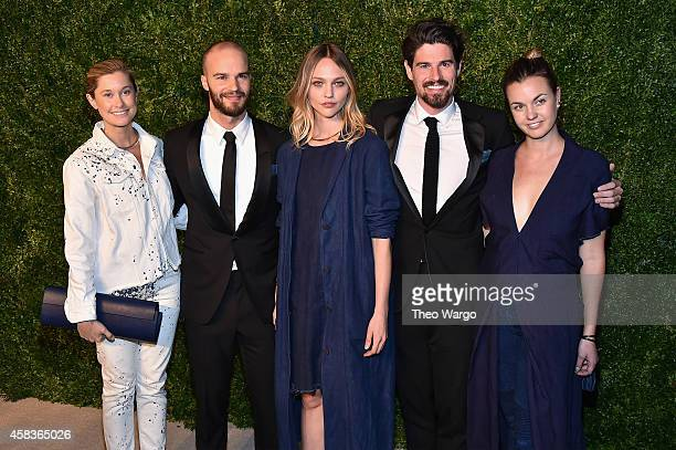 Simon Miller designers Jake Sargent and Daniel Corrigan and model Sasha Pivovarova attend the 11th annual CFDA/Vogue Fashion Fund Awards at Spring...