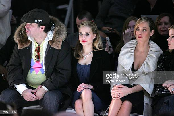 Simon Monjack actress Brittany Murphy and Kim Raver attend the Monique Lhuillier Fall 2008 fashion show during MercedesBenz Fashion Week Fall 2008 at...