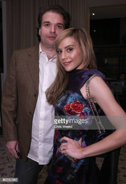WEST HOLLYWOOD CA MARCH 12 Simon Monjack and actress Brittany Murphy attend the Sony Cierge Spring Preview at Palihouse on March 12 2008 in Hollywood...
