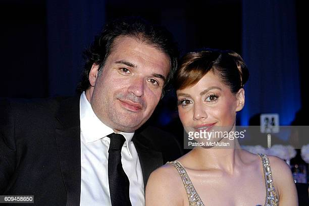 Simon Monjack and Brittany Murphy attend 2007 Award of Hope Gala Honoring Michael Ball of Rock Republic with Performance by John Legend at Four...