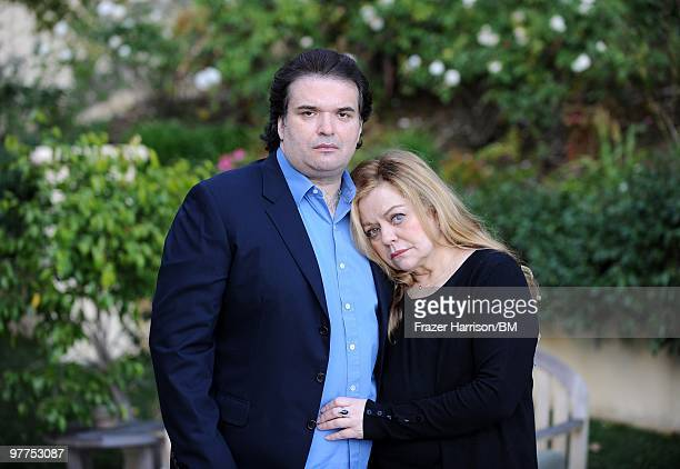 Simon Monjack husband of deceased actress Brittany Murphy and Sharon Murphy mother of Brittany Murphy during a photo shoot on January 13 2010 in...