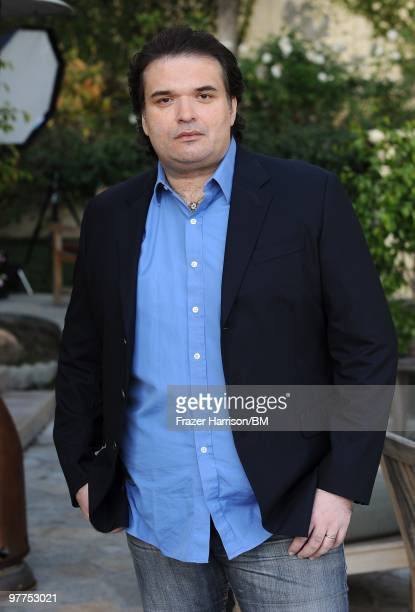Simon Monjack husband of deceased actress Brittany Murphy at his home during a portrait session on January 13 2010 in Hollywood California