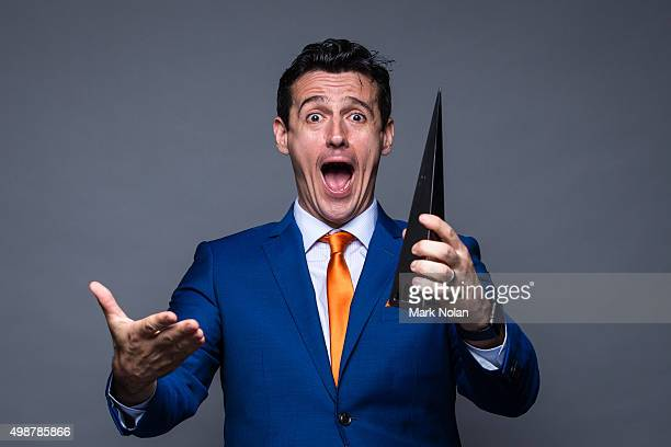 Simon Moran poses for a portrait with an ARIA for Best Children's Album during the 29th Annual ARIA Awards 2015 at The Star on November 26, 2015 in...