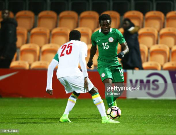 Simon Moses of Nigeria during International Friendly match between Nigeria against Senegal at The Hive Barnet FC on 23rd March 2017