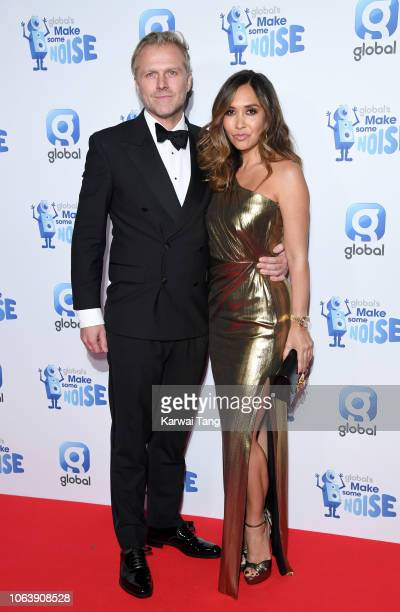 Simon Motson and Myleene Klass attend Global Radio's Make Some Noise Night at Finsbury Square Marquee on November 20 2018 in London England