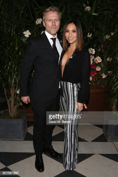 Simon Motson and Myleene Klass attend the Universal Music BRIT Awards AfterParty 2018 hosted by Soho House and Bacardi at The Ned on February 21 2018...
