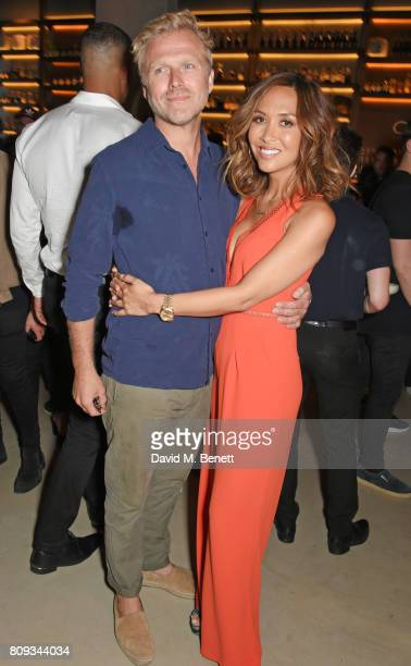 Simon Motson and Myleene Klass attend the Warner Music Group and British GQ Summer Party in partnership with Quintessentially at Nobu Hotel...