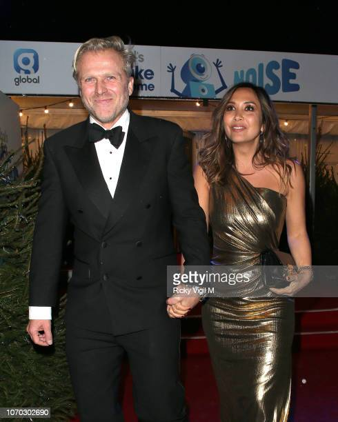 Simon Motson and Myleene Klass attends the Love Island final viewing party hosted by Capital for Global's Make Some Noise charity on November 20 2018...
