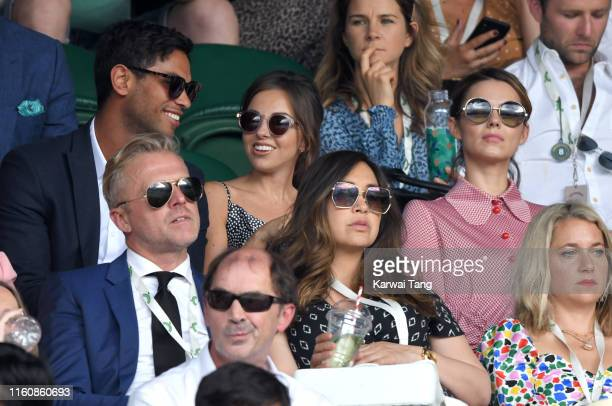Simon Motson Louisa Lytton Myleene Klass and Kara Tointon attend day seven of the Wimbledon Tennis Championships at All England Lawn Tennis and...