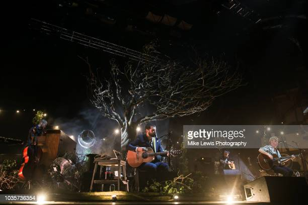 Simon Neil and James Johnston of Biffy Clyro peform at St David's Hall on September 18 2018 in Cardiff Wales